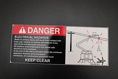 Electrical Hazard Bucket Truck Safety Decal 12.5 Crane Boom Bucket Stickers