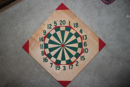 Vintage Wooden Double Sided Dart Board - Unplayed
