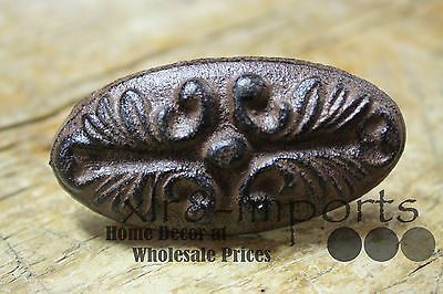 Door Handles Barn Handle 12 Cast Iron Antique Victorian Style OVAL Drawer Pull