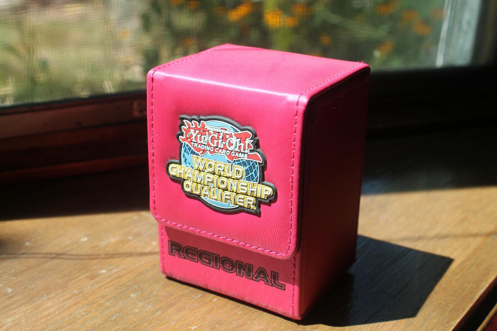yugioh wcq regional deck box pink not