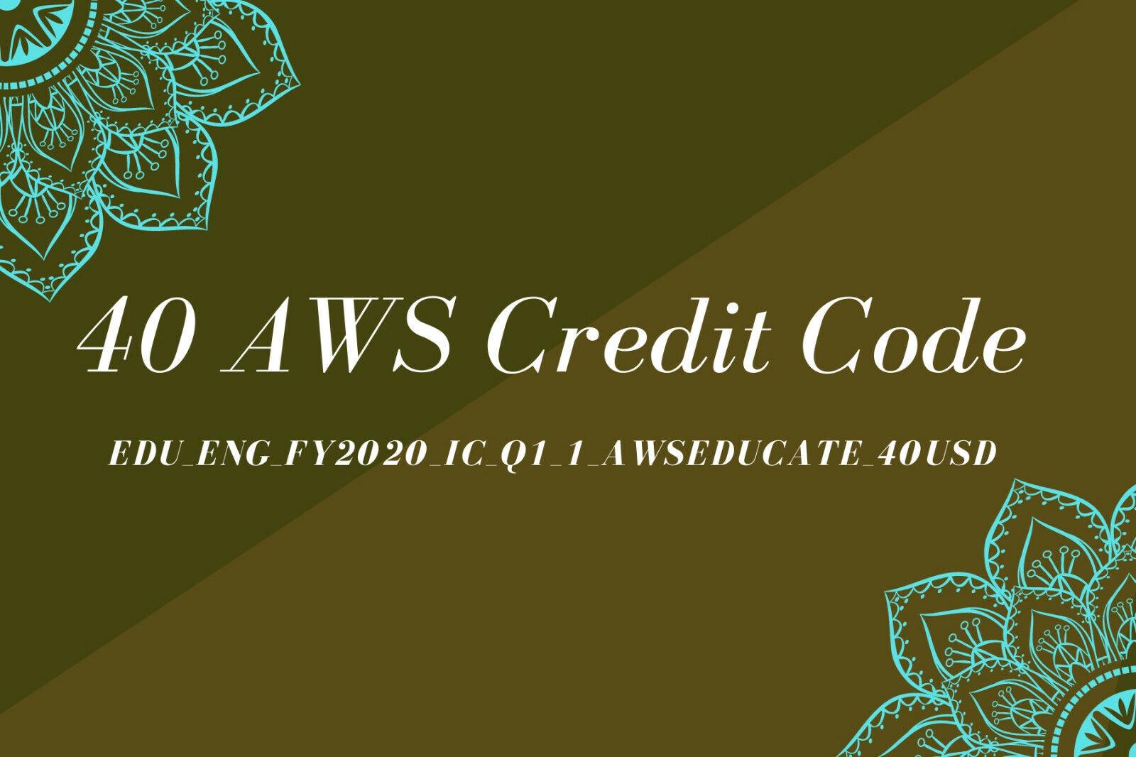 Купить Unbranded - Aws Credit $40 Aws Code RDS Aws Promo Code EC2 Aws Codes New Event FY2020_IC_Q1