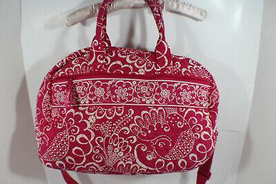 Vera Bradley Weekender Pink Paisley Tote Bag Luggage Duffel Floral Large