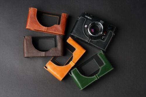 Genuine Real Leather Half Camera Case Bag Cover for  Minolta cle Film Camera