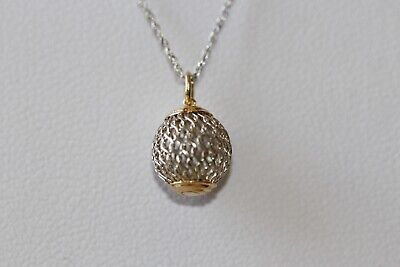 Natural Two Tone 14k Solid Gold Necklace & Pendant Two Tone Gold Natural