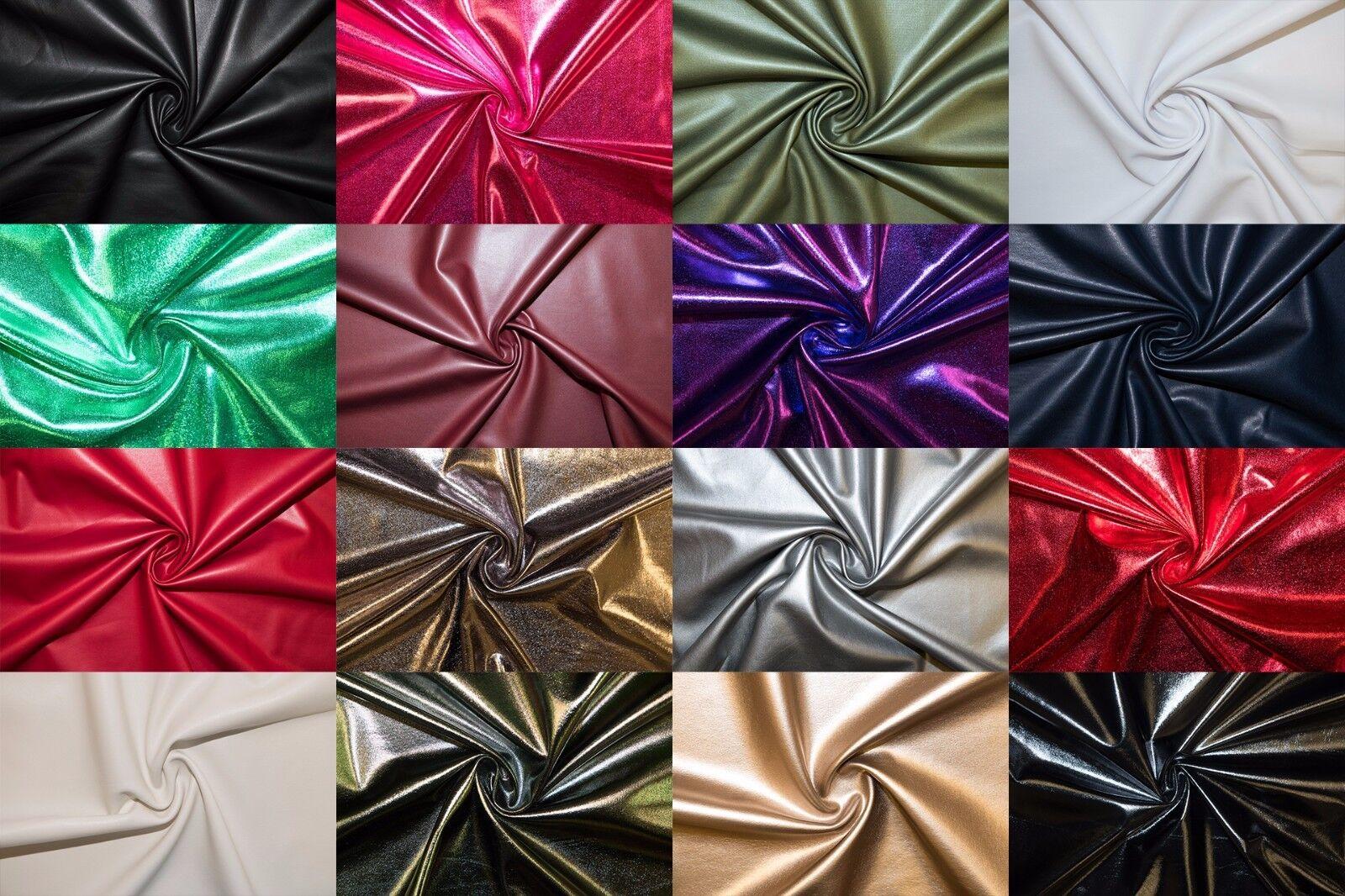 Pleather Faux Leather Vinyl Stretch Polyester Lycra Spandex