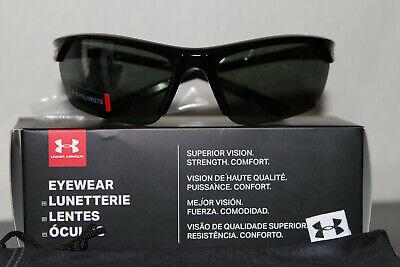 Under Armour Ua Zone 2.0 Herren Polarisiert Semirimless Wrap Sonnenbrille Neu