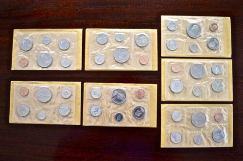 Lot of 7 Canadian Uncirculated RCM 6-Coin Sets - A Total of 42 BU Coins (4032-8)