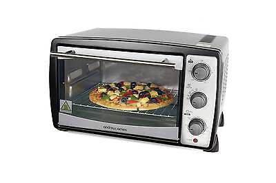 Andrew James 20 Ltr Black Convection Mini Oven And Grill Table Top Caravan Oven