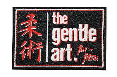 Jiu Jitsu BJJ Gi Patch THE GENTLE ART Jiu Jitsu Gift IRON-ON Japanese Origin