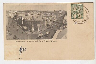 INTERSECTION OF EAGLE AND QUEEN ST BRISBANE QUEENSLAND  POSTCARD (Queens St Brisbane)