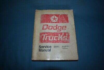 1972 Dodge Truck Service Shop Repair Manual D W 100 200 300 400 500 600 700 800 100 200 400 800 Manual