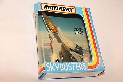 MATCHBOX SKYBUSTERS SB-22 TORNADO MILITARY JET FIGHTER AIRPLANE, NEW IN BOX