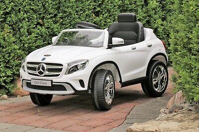 Mercedes-Benz GLA White Licensed Dual Motor 12V Kids Ride-On Car Remote Control