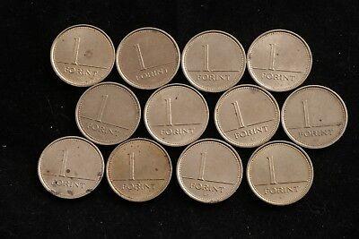 Hungary Coin Lot 1 Forint Various Year Set 12 Republic Hungarian