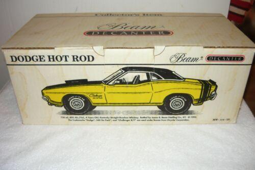 1970 Dodge Hot Rod Challenger Yellow And Black Jim Beam Decanter In Original Box