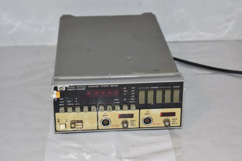 HP 8152A OPTICAL AVERAGE POWER METER HEWLETT PACKARD AGILENT  (NU7)