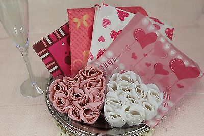 120ct Valentine's Day Party Beverage Luncheon Paper Napkins,Pink Love Heart 6.5