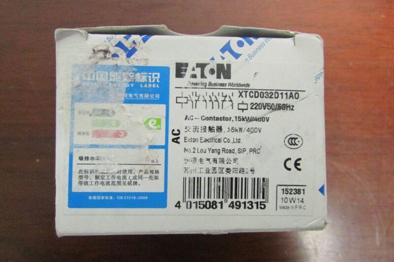 EATON KLOCKNER MOELLER XTCD032 Contactor 220V XTCD032D11A0