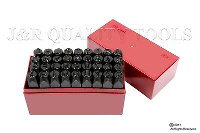 36 Pc 38 Steel Metal Punch Letter Number Stamp Stamping Kit Set With Case