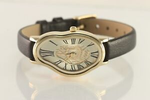 Salvador Dali Melting Watch Time Warp Fluid Wavy Watch Soft Womens Gold watch
