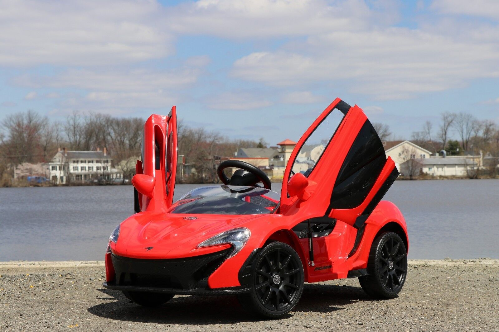 Mclaren P1 Red 12v-Dual Motor Electric Power Ride On Car wit