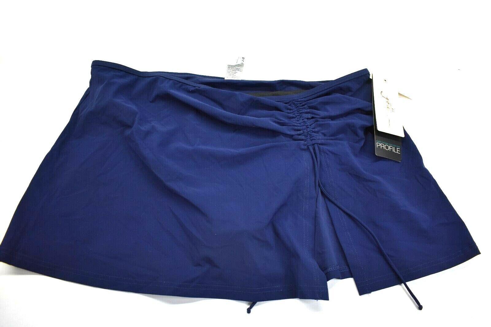 Profile By Gottex Swimwear Bottom Sz 14 Swim Skirt Mix Match Navy Retail 84.00 - $23.99