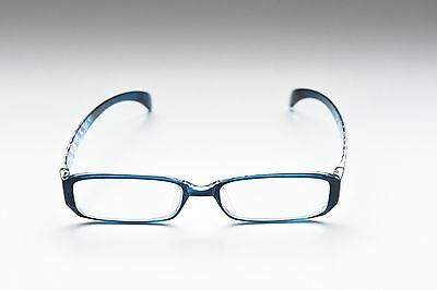 Zenni Optical Patterned Blue Crystal Flexible Plastic Eyeglass Frames New
