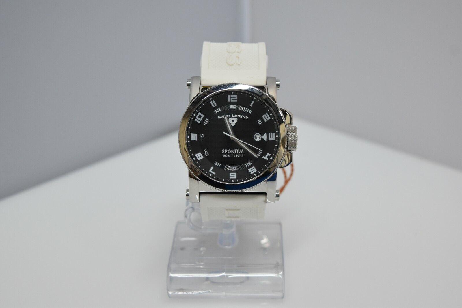 Swiss Legend Sportiva 45mm SL-40030 Watch White/Black