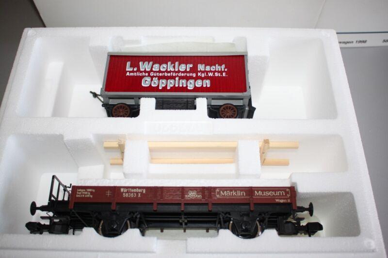 Märklin 58363 Museum Vehicle 1998 2-Achser Low Württemberg Gauge 1 Boxed
