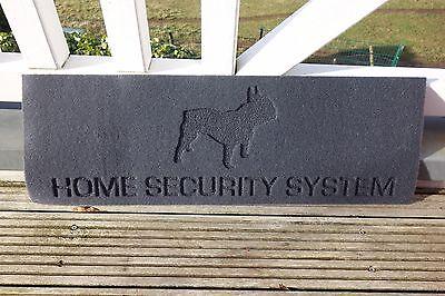 Fußabtreter Fußboden Matte Bulldogge Hund Home Security System Fils 75x25cm NEU