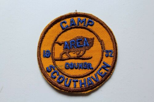 Vintage BSA Boy Scouts 1952 Camp Scouthaven Patch