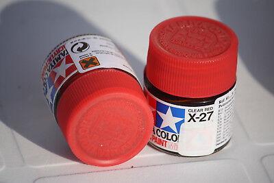 Tamiya Peinture Pot 10cl X27 Clear Red
