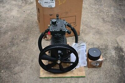 Speedaire 5z404 5 Hp 2 Stage Splash Lubricated Air Compressor Pump Tf061903av