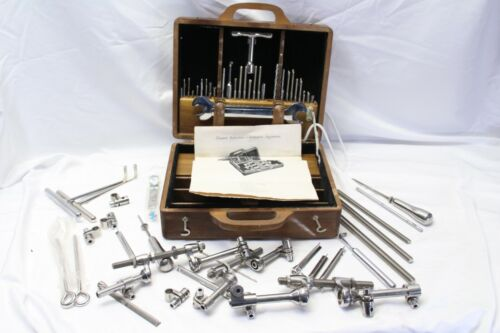 Zimmer Reduction Retention Apparatus Surgical Kit Vintage Medical Case Manual
