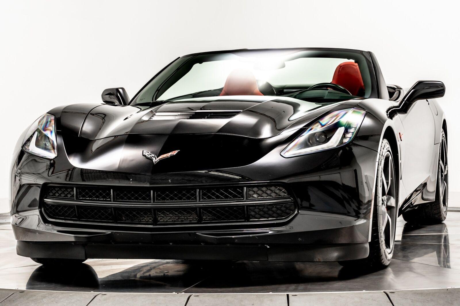 2014 Black Chevrolet Corvette Convertible 2LT   C7 Corvette Photo 4