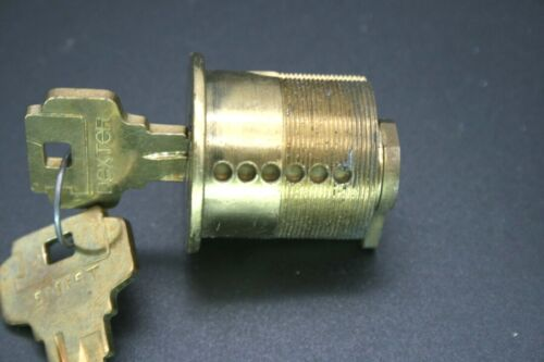 """Commercial Solid Brass 6 Pin Door Lock 1 3/8"""" Cylinder with two Keys"""