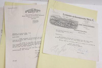 1927 Lamson Goodnow Signed Alliance National Bank Chicago   Letter Ephemera L81l