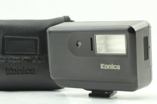[Near MINT /Case] Konica HX-14 Black Auto Shoe Mount Flash for Hexar From JAPAN