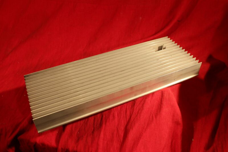 """Aluminum Heat Sink, large, 18"""" x6"""" x 2""""... 6-32 holes as in pictures. w. cutout"""