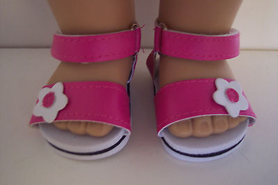 18 Inch Doll Clothes for Girl Pink Sandal Shoes Ebay ID: Buy-American-Boutique