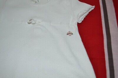 Robe baby  dior 3 mois blanche avec coeur rose dior pendu