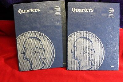 2-WHITMAN BLANK QUARTERS COIN FOLDERS, NEW FOLDERS, EACH HOLDS 43 QUARTERS