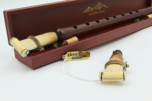 DUDUK ARMENIAN Professional Apricot Wood + 2 Reeds + wooden case + instruction