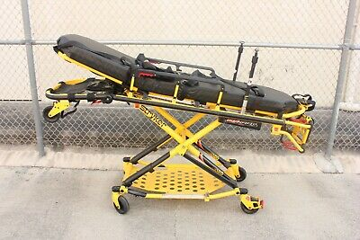Dual Iv Loaded Stryker Mx-pro 650lb Ambulance Stretcher Brake Straps Gurney Ems