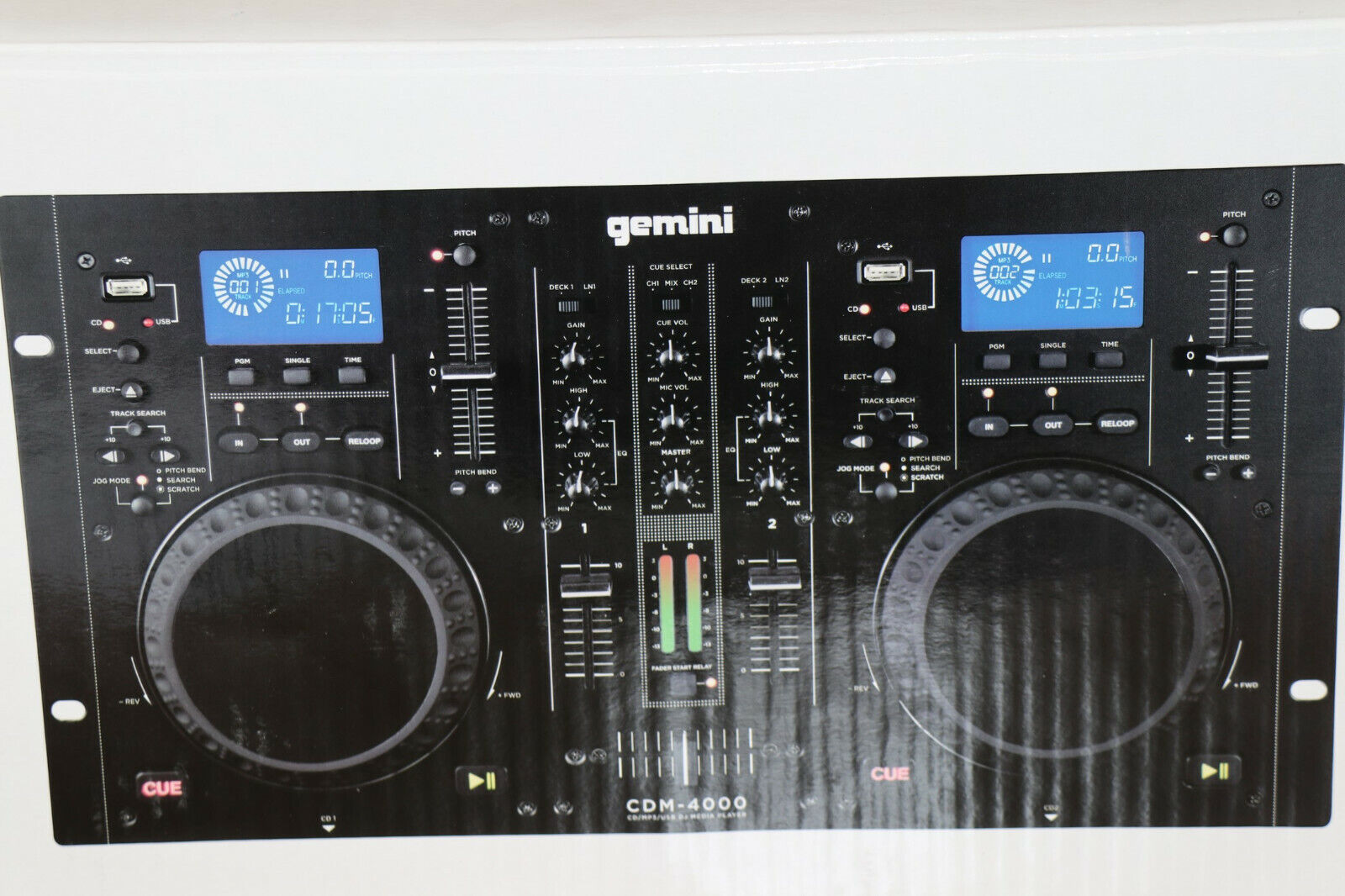 Gemini CDM-4000 Professional DJ Dual CD Player MP3 USB Deck Workstation CDJ #14