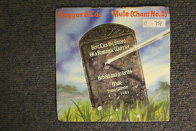 "7"" VINYL SINGLE, BEGGAR & CO, MULE (CHANT NO 2), GO FORTH, POP, EXC COND"