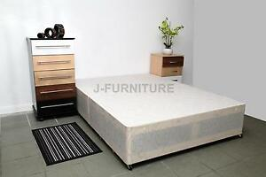 4ft6 standard double divan bed base with two drawers on for Double divan bed base for sale