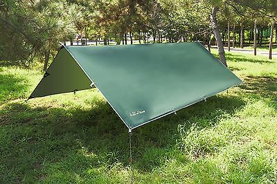 Waterproof Sunshade Tent Tarp Rain Fly Awning Outdoor Camping Hammock 10 x 12FT
