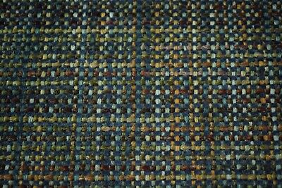 Fabric Seat Upholstery -  Blue Bronze Canvas Tweed Fabric 55