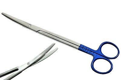 New German Metzenbaum Scissors 7 Blue Handle Curved Surgical Veterinary